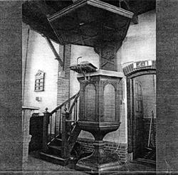 De oude kansel in Ankeveen